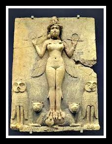 Terracotta Plaque depicting Inanna; southern Iraq (1800 and 1750 BC)