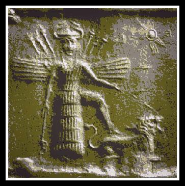 Another ancient depiction of Inanna.